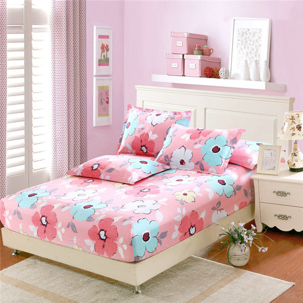 Superbe 100% Cotton Fitted Sheet Twin Double Full Queen King Size Mattress Cover  Pure Cotton Bed