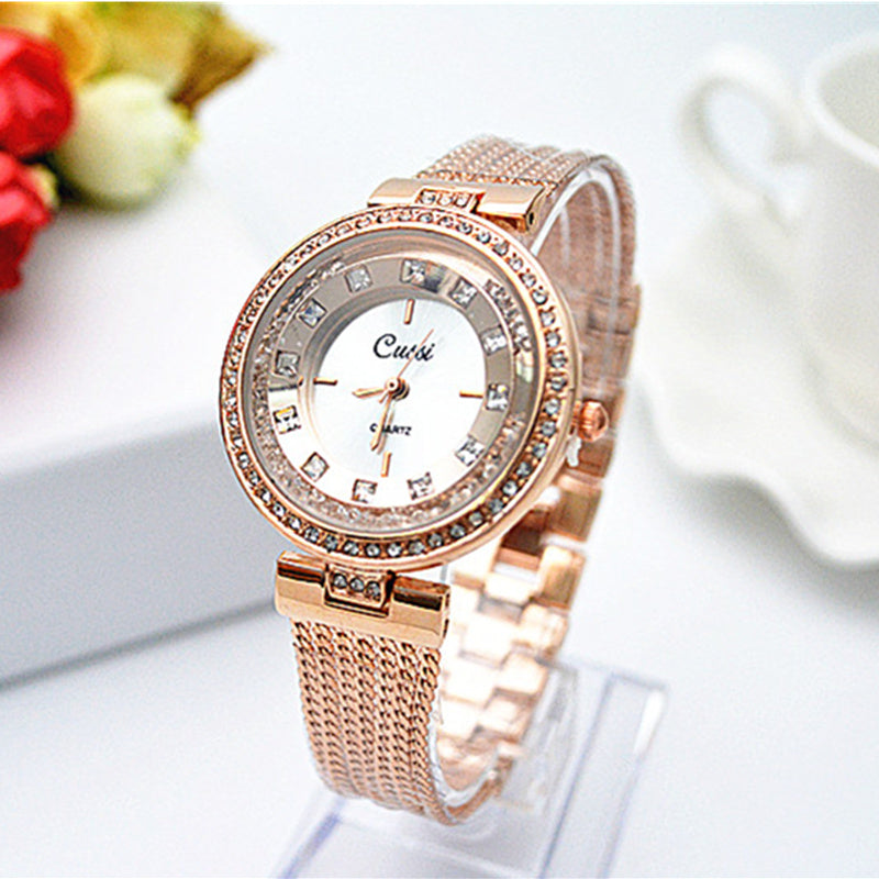 Costbuys  Rose Gold Bracelet Watch Women Watches Luxury Diamond Women's Watches Ladies Watch Clock - Gold / Costbuys