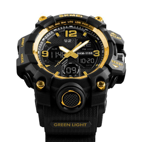 Digital-Quartz Dual Display G Style Shock Watch Military Digital Wrist Watch Men Sports Wristwatch Waterproof Electronic Clock