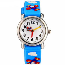 Fashion Watches for Boy Children Cartoon Excavator Strap Watch Life Waterproof Silicone Bracelet Wristwatch Kids Gift
