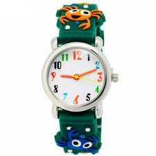 Children Quartz Watches 3D crab Strap Fashion Cartoon Kids Watch boy Silicone Bracelet Wristwatch Student Girls Gift