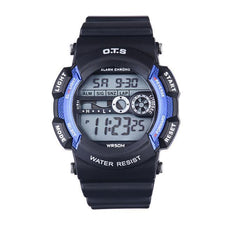 Children Watches Waterproof Sport Boys with Back Light LED Display Kids Electronic Wristwatches