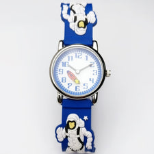 Fashion Children Watch Cartoon Astronaut Silicone Bracelet Blue Watchband Kids Watches Boys Gift Sport Wristwatch
