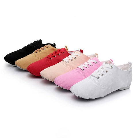 Adults DanceSport Shoes Jazz Dance Shoes Lace-up Split Soles Ballet Dance Shoes Gym Yoga Fitness Karate Shoes Sneakers Unisex