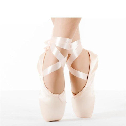 Hot Child Adult Ballet Pointe Dance Shoes Ladies Professional Ballet Dance Shoes Ribbons Shoes Toe Shoes Woman