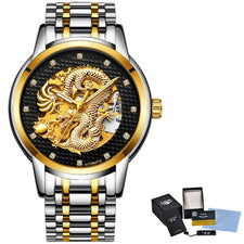 Automatic Mechanical Watches For Men Wrist Watch Stainless Steel Strap Gold Clock 30m Waterproof Mens watch