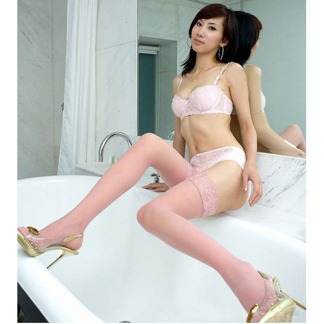 f0d55d6fc69 1 Pair Hot Sexy Women Girls Lace Top Thigh High Stockings Nightclubs  Pantyhose Tights Black