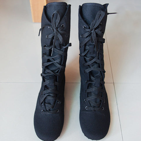 Cloth High Jazz Dance Boot Stage Dance Boots Girls Women dance shoes Performance Shoes