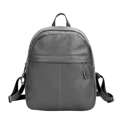 Costbuys  Women Backpacks for Teenage Girls Shoulder Bag Female Zipper School Bags Preppy Style - Gray