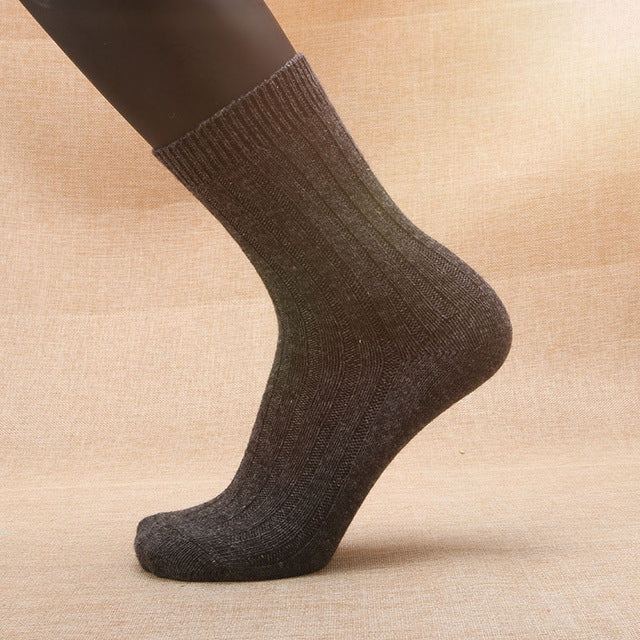 5 Pairs Brand Male Autumn Winter Men's Needle Rabbit Wool Socks Men Thickening Thermal Wool Socks For Men Elite Warm Socks