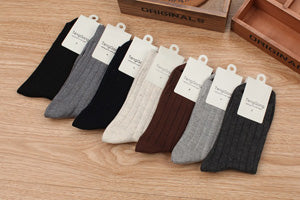 Costbuys  Men's Cotton Socks Fashion Breathable In Tube Sock For Man Casual Thicken Comfortable Socks Winter Male