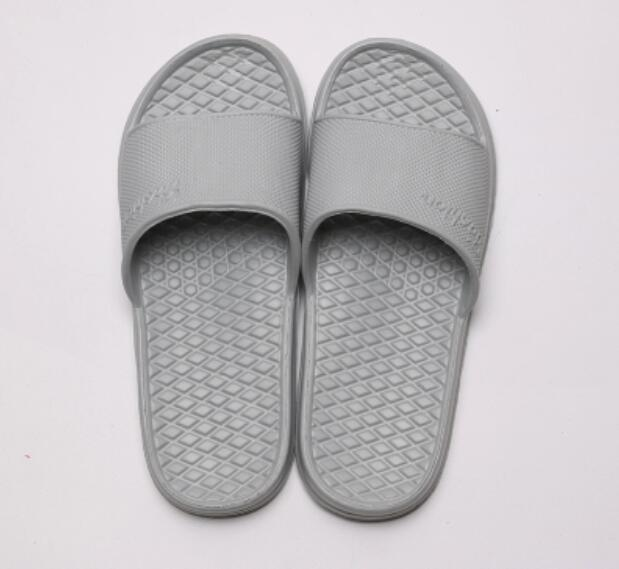 Costbuys  Summer floor skid proof home floor slippers, indoor family bathroom, bath sandals, slippers men - Gray / 6.5