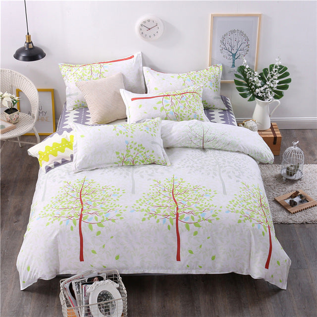 Costbuys  New Style Bedding Sets Bed Sheet Pillowcase & Duvet Cover Sets Bed Sheet,king Queen Full Twin Size - A9 / Queen cover