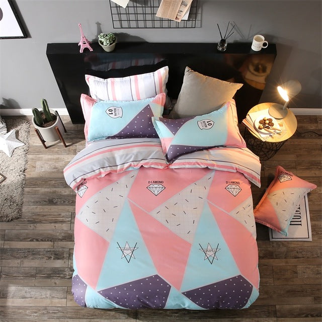 Costbuys  New Style Bedding Sets Bed Sheet Pillowcase & Duvet Cover Sets Bed Sheet,king Queen Full Twin Size - S1 / Full cover 1