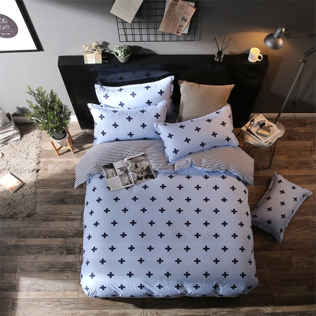 Costbuys  New Style Bedding Sets Bed Sheet Pillowcase & Duvet Cover Sets Bed Sheet,king Queen Full Twin Size - S6 / Full cover 1