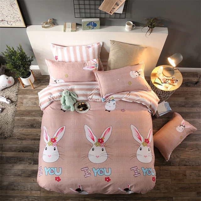Costbuys  New Style Bedding Sets Bed Sheet Pillowcase & Duvet Cover Sets Bed Sheet,king Queen Full Twin Size - D3 / queen cover
