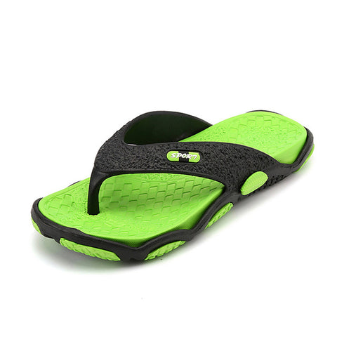 100% Genuine Leather Men's flip-flops Handmade Fashion Summer Beach Sandals Slippers