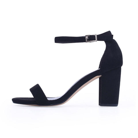 Ankle Strap Heels Women Sandals Summer Shoes Women Open Toe Chunky High Heels Party Dress Sandals Big