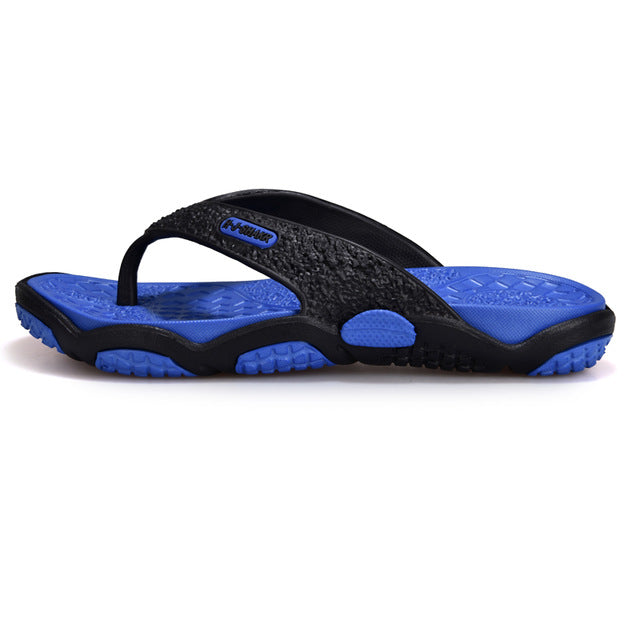 Costbuys  Men's Flip Flops Summer Men's New Style Rubber Soft Shoes Outdoor Beach Men's Slippers Massage Men Footwear - blue / 1