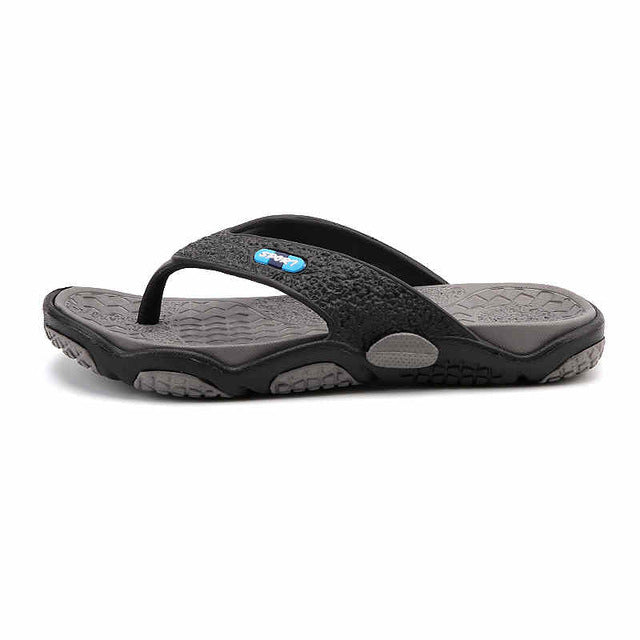 Costbuys  Men's Flip Flops Summer Men's New Style Rubber Soft Shoes Outdoor Beach Men's Slippers Massage Men Footwear - gray / 1