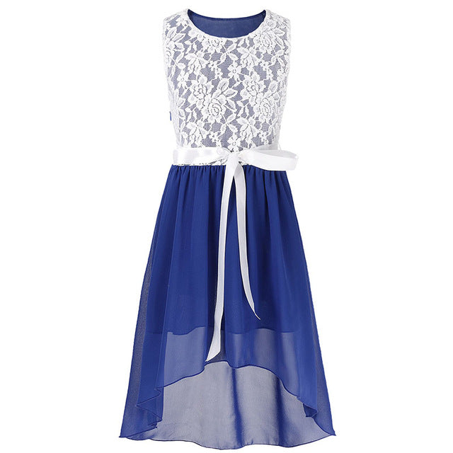 Costbuys  Girls Floral Dress Gowns Kids Princess Wedding Vestido de fest Dress Birthday Party Clothing Kids Evening Prom Dress -