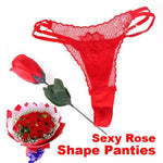 Red Pink black Sexy Lingerie Roses Briefs Love Gifts Charming Womens Sexy Rose Lace V-string G-string Thongs Panties