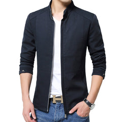 Spring Men's Casual Stand Collar Cotton Jackets Coat Men Business Classic Style Brand New Jacket Coats Men