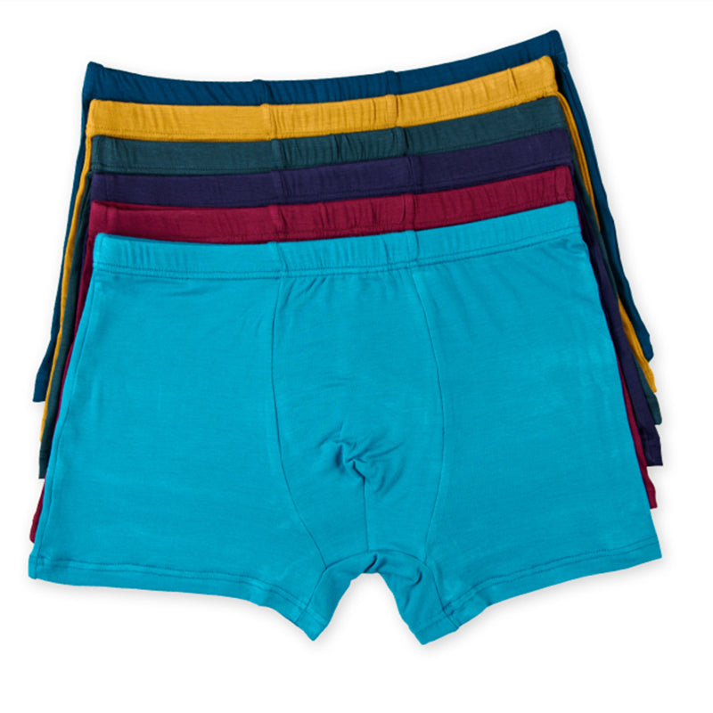 10pcs/lot Multi Color Men Underwear Boxers Solid Color Men Boxer Underwear Sexy Comfort Men Shorts Panties Size