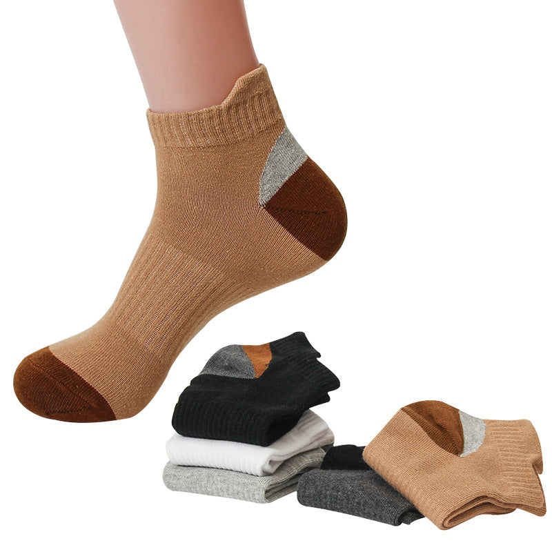 5 pairs Male Female Socks Autumn And Winter New Fashion Warm Color Mixed Men's Cotton Socks Absorbent Sweat Deodorant Tube Socks