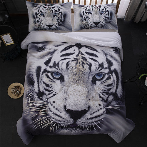 Costbuys  New Animal Single Double Duvet Covers with Zipper Soft Comforter Cover 3 Pieces Twin Full Queen King Size Quilt Cover