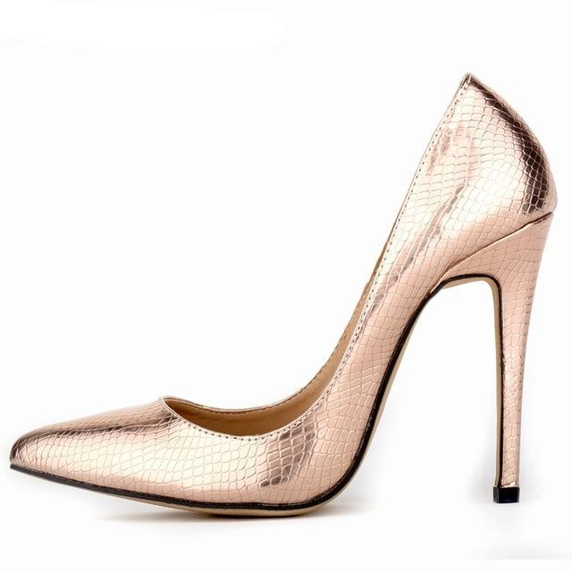 5d1bf0947b Women Bridal Shoes Red Gold Sliver High Heels Sexy Woman Pumps Ladies  Pointed Toe Shoes