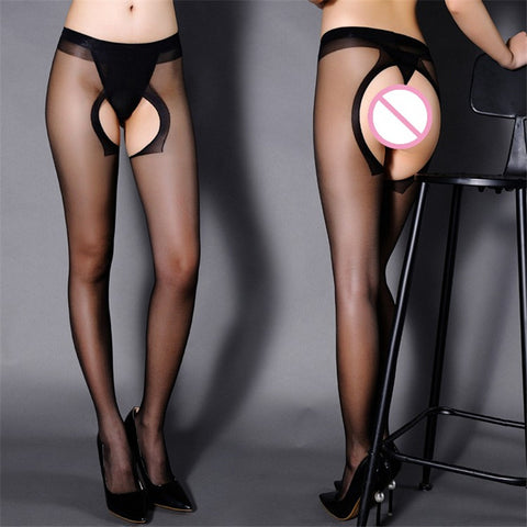 Pantyhose Open Crotch Sexy Lingerie  Stockings Female Nylon Stockings Sexy Tights