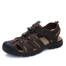 Genuine leather men sandals classics summer sandals men non-slip outdoor beach sandals
