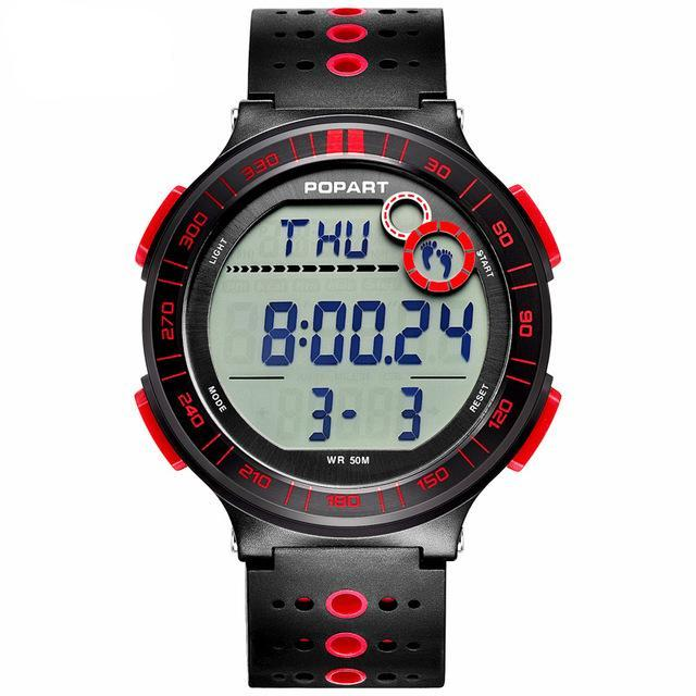 Costbuys  Digital Wristwatches Sport Watch Pedometer Chronograph Alarm LED Display Digital Watch - POP-983-01-2