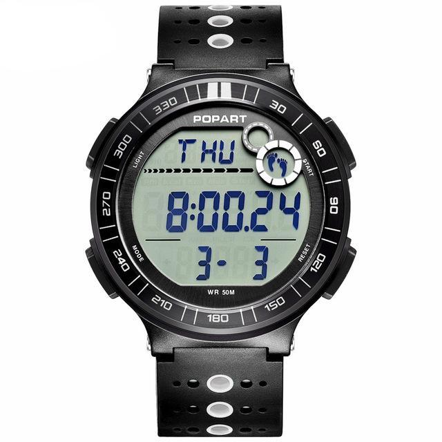 Costbuys  Digital Wristwatches Sport Watch Pedometer Chronograph Alarm LED Display Digital Watch - POP-983-02-2