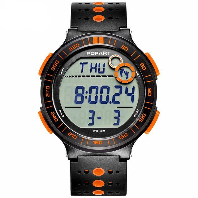 Costbuys  Digital Wristwatches Sport Watch Pedometer Chronograph Alarm LED Display Digital Watch - POP-983-03-2