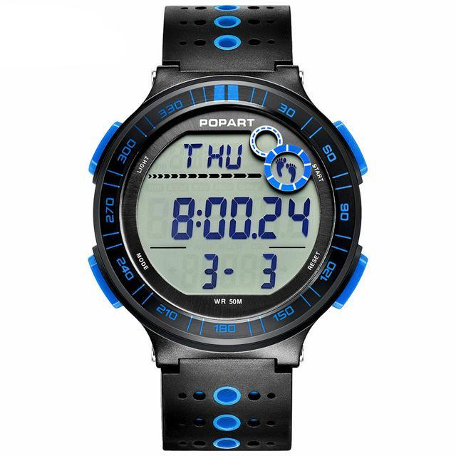 Costbuys  Digital Wristwatches Sport Watch Pedometer Chronograph Alarm LED Display Digital Watch - POP-983-04-2