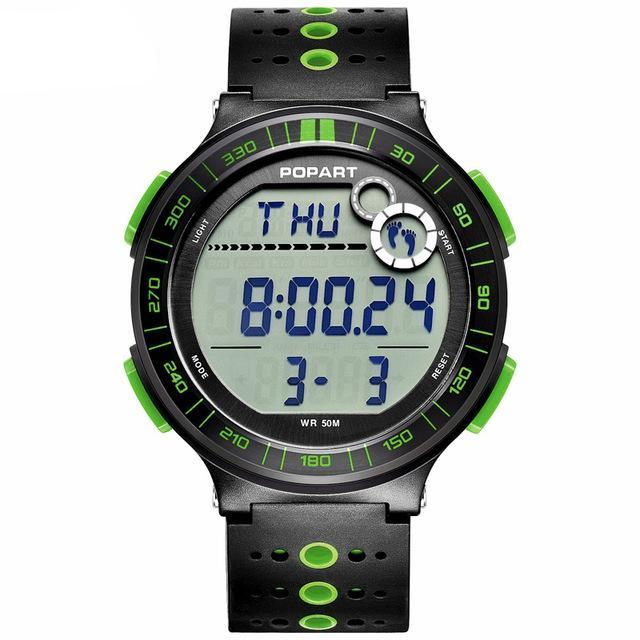 Costbuys  Digital Wristwatches Sport Watch Pedometer Chronograph Alarm LED Display Digital Watch - POP-983-05-2