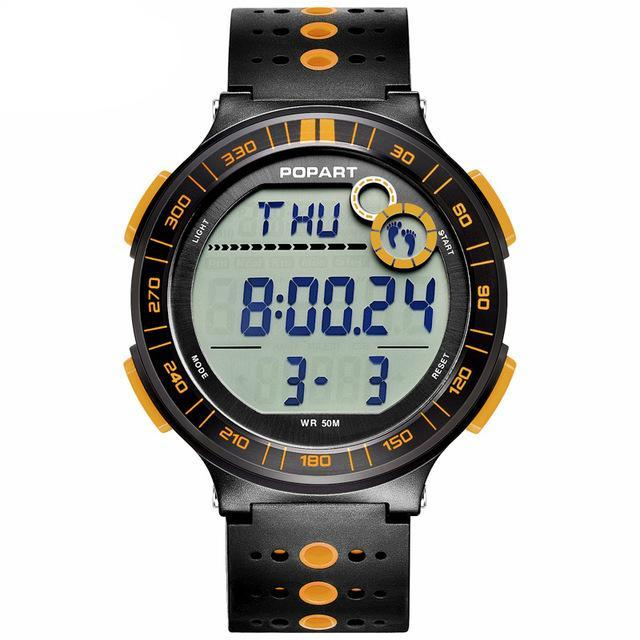 Costbuys  Digital Wristwatches Sport Watch Pedometer Chronograph Alarm LED Display Digital Watch - POP-983-06-2