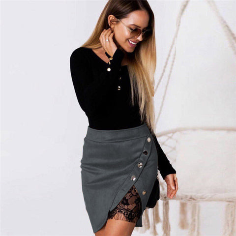 Hot Sales Women Skirt Pencil Skirt With High Waist Tight Office Skirt Fashion Slim Casual Package Hip Skirt