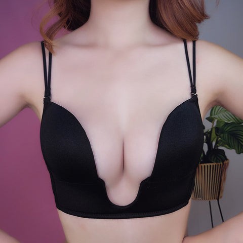 1pcs Sexy Lingerie Women Sexy Push Up Bra Front Closure Self-Adhesive Invisible Bra Silicone Seamless Strapless Bras For Women
