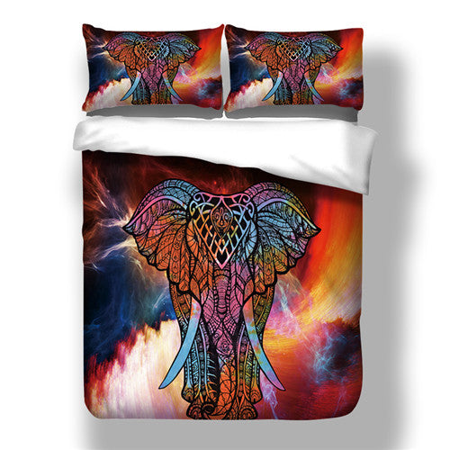 Costbuys  Single duvet cover no filling Microfiber Animal bed comforter cover Twin Full Queen King Size - color as picture 2 / C