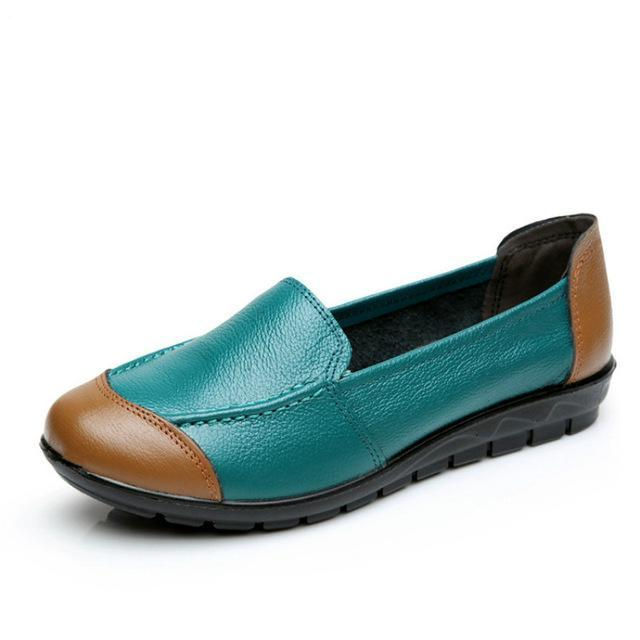 43ffef356bd Woman Leather Shoes Flats Colors footwear Loafers Slip On – Costbuys