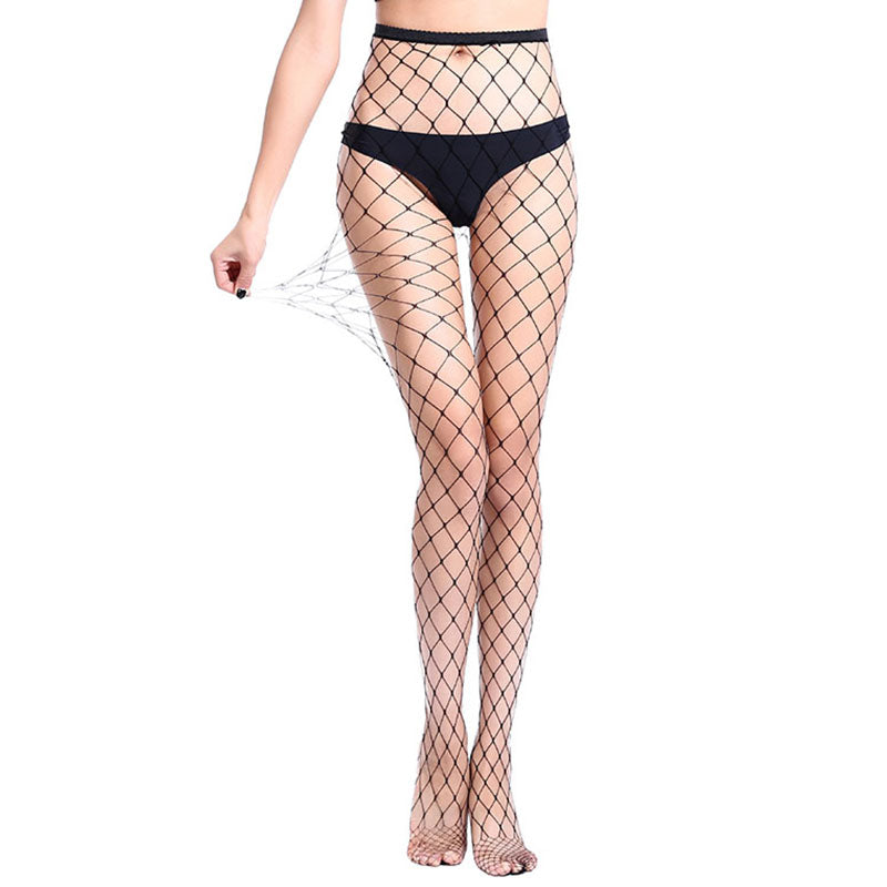 6bf1793f7cd6 Women's Long Sexy Fishnet Stockings Black Elastic Pantyhose Mesh Stockings  Lingerie Skin Thigh High Stocking