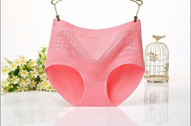 Women High Waist Pure Cotton Body Shaping Abdomen Slim Underwear Briefs Women Breathable Large Size Panties Sexy Lingerie