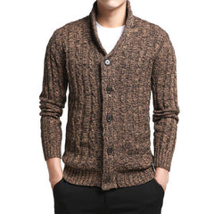 Sweater Men V-Neck Solid Slim Fit Knitting Men's Sweaters Cardigan Male Autumn Casual Tops