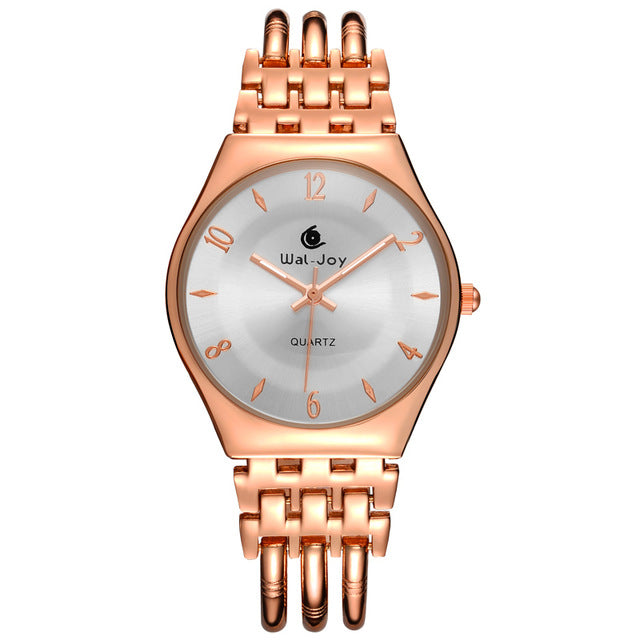 Costbuys  Women Watches Ultra Thin Dial Bracelet Watch Waterproof Hollow Gold Rose Gold Watch - Rose Gold