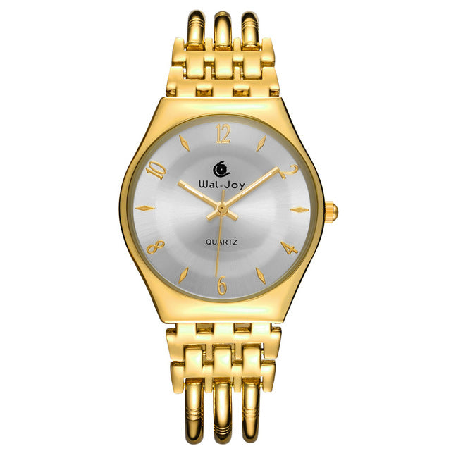 Costbuys  Women Watches Ultra Thin Dial Bracelet Watch Waterproof Hollow Gold Rose Gold Watch - Gold