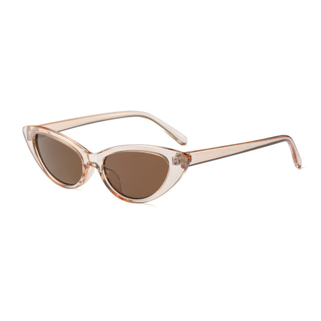 Costbuys  Sunglasses Women Small Frame Modern Retro Sun Glasses - C2-Light Brown-Brown