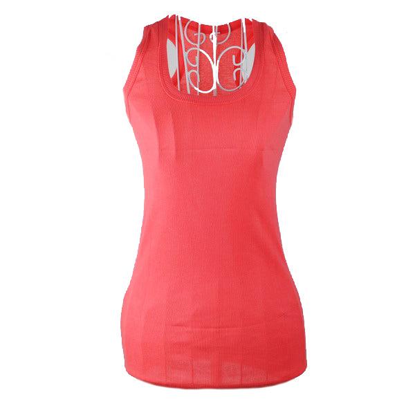 Costbuys  New Ladies Multicolor Sleeveless Bodycon Temperament Cotton Tank Top Women Vest Tops - WaRed / One Size